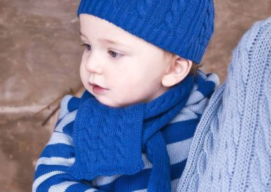 Boy In Blue Woolen Dress - صور أطفال